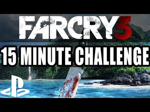 Far Cry 3 15 Minute Gameplay Challenge - Sharks, Pirates, Tigers, Crocodiles (PS3 Let's Play)