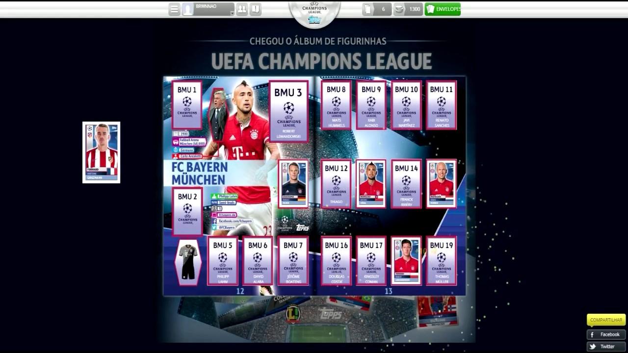 Codigos Multiuso Album Virtual Champions League 2016 2017 Youtube