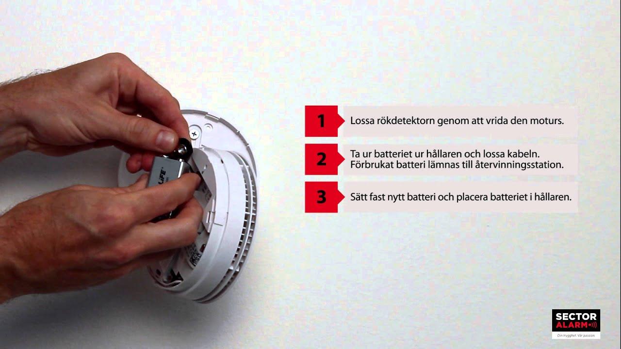 verisure byta batteri i kamera