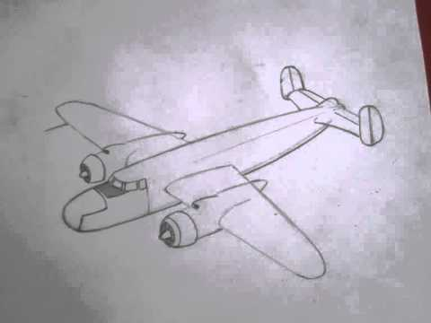 How To Draw Military Vehicles B 25 Mitchell Youtube