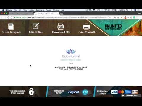 Free Funeral Program Template - Self Editable and Printable