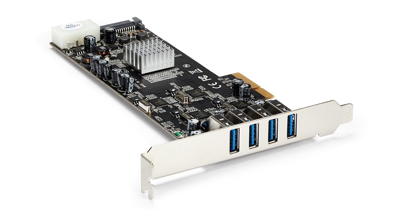 Superspeed PCI-E to USB 3.0 4 Port PCI Express Expansion Card PCIe Card