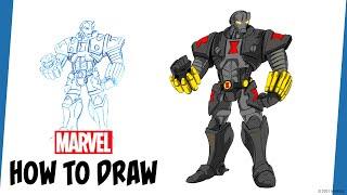Marvel's Avengers: Mech Strike   How to Draw Black Widow