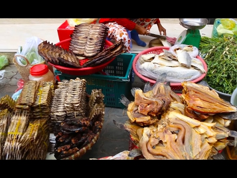 Country Food In My Village, Art Of Living In Cambodian Market, Asian Market