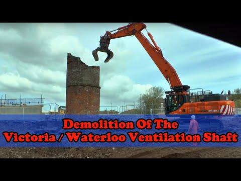 Partial demolition of the Victoria / Waterloo Tunnel Ventilation Shaft
