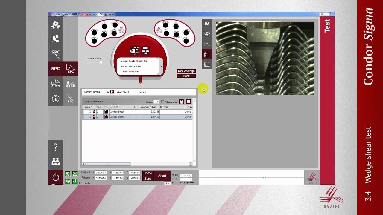 Wedge shear testing - Test types - XYZTEC (English)
