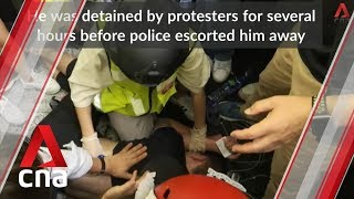 Clashes break out at Hong Kong airport during protests