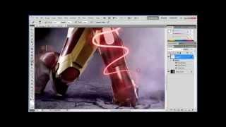 Светящиеся линии в Photoshop CS5 [HD]