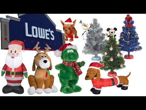 Christmas Store Tour Lowes 2015 - Animated Props, Inflatables and Christmas Trees