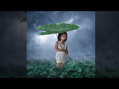 Photoshop Tutorial,  Rain Effect Photo Manipulation