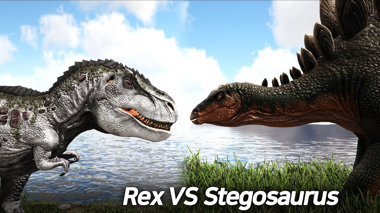 25 Rex vs 100 Stegosaurus, 렉스 vs 스테고 - ARK Survival Evolved(Ver.2021)