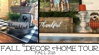 FALL DECOR HOME TOUR // FALL 2018