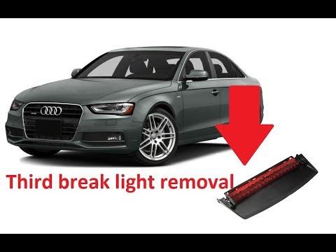 third break light removal audi a4 a3 2015 youtube. Black Bedroom Furniture Sets. Home Design Ideas