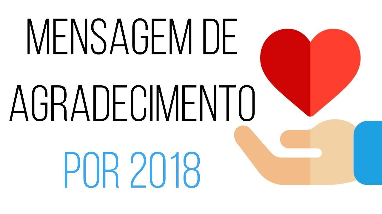 MENSAGEM DE AGRADECIMENTO POR 2018