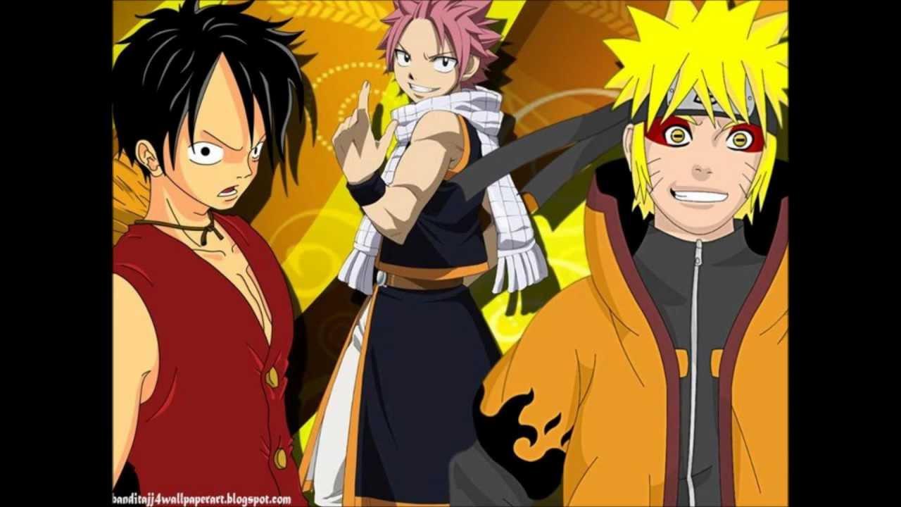 Naruto vs Fairy Tail vs One piece - YouTube