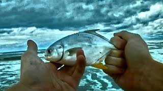 Myrtle Beach Surf Fishing...(Catching Whiting and Pompano)