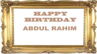 AbdulRahim   Birthday Postcards & Postales - Happy Birthday