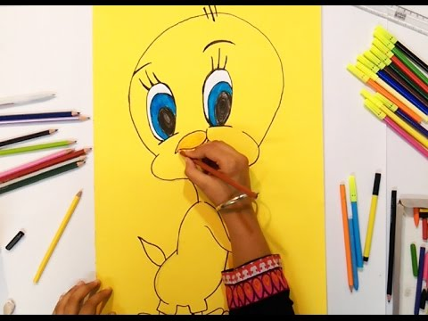 How To Draw Tweety Bird Step By Step