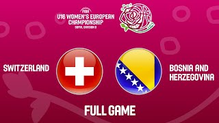 Switzerland v Bosnia and Herzegovina - Full Game - FIBA U16 Women's European Championship Div B 2019