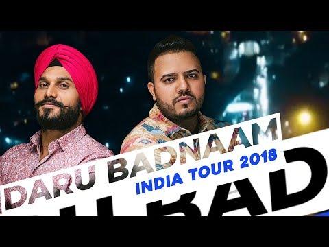 Param Singh & Kamal Kahlon | Daru Badnaam |  India Tour 2018 | VIP Records