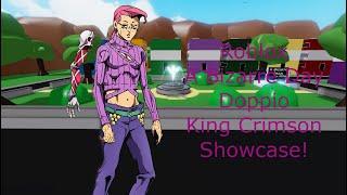 Roblox A Bizarre Day Doppios King Crimson Showcase!