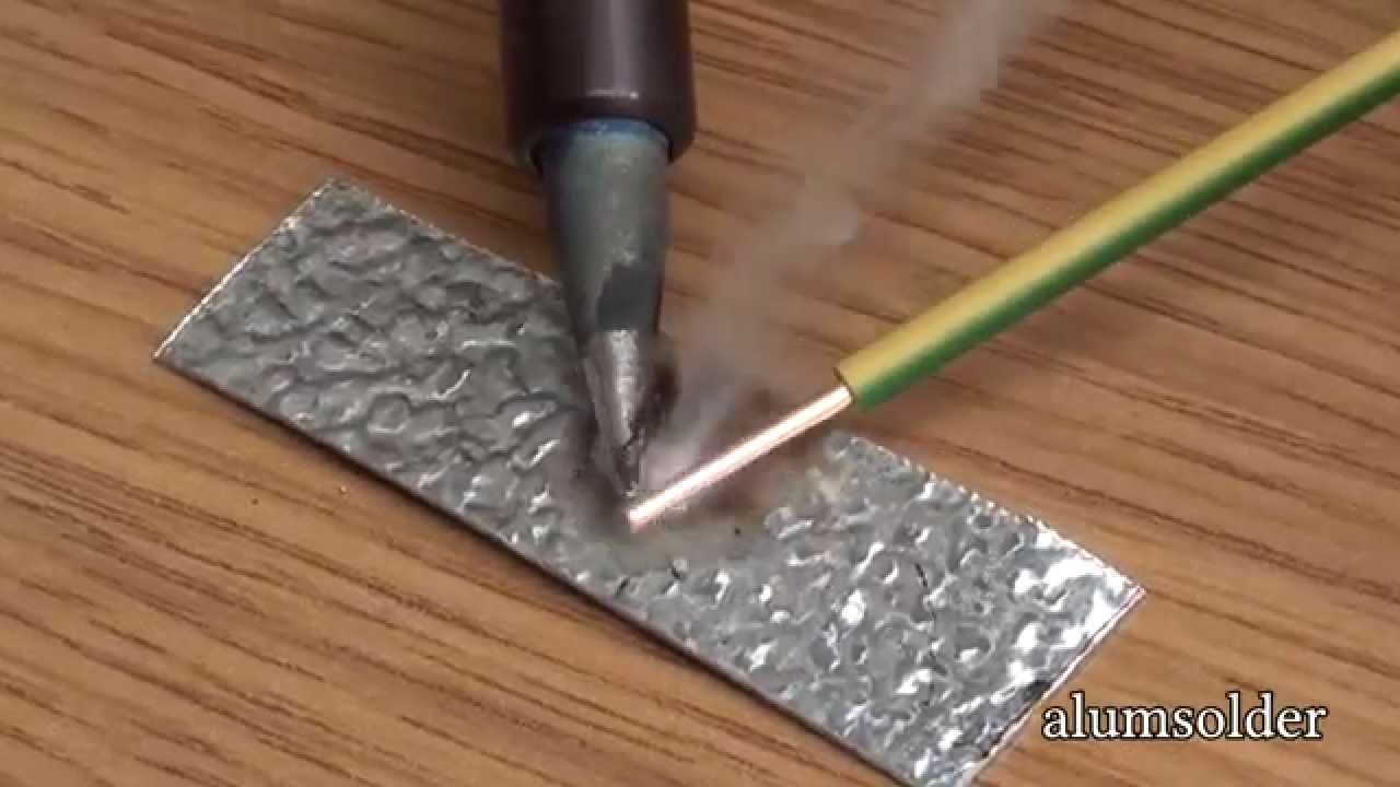 alumsolder alu flux use solder and soldering iron to join aluminium aluminium soldering youtube. Black Bedroom Furniture Sets. Home Design Ideas