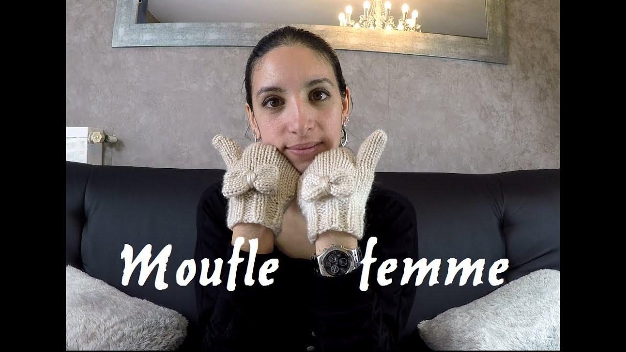 Tricoter des moufles femme facile et rapide woman - Tricoter des mitaines facile ...