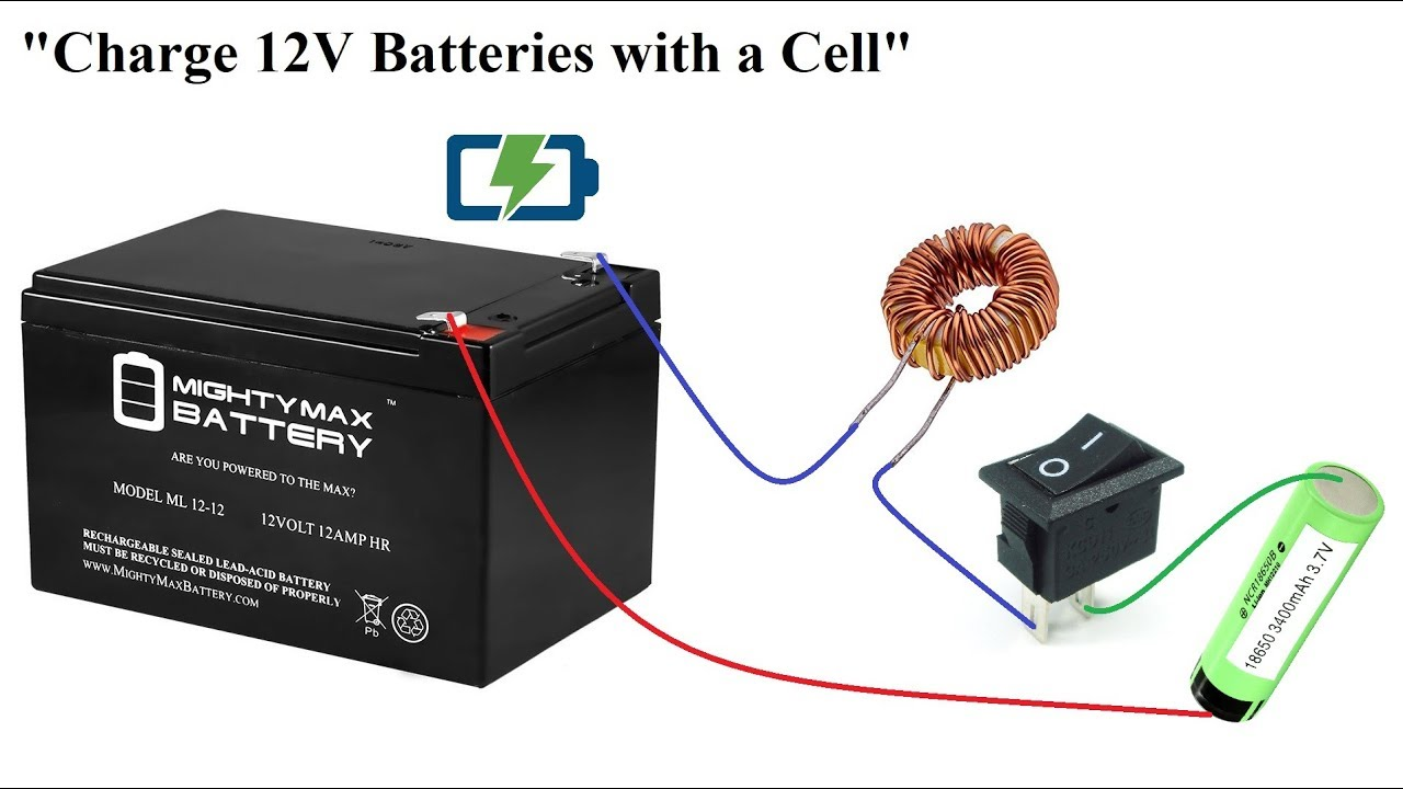 How To Charge 12v Batteries With A 3v Cell Amazing Idea Diy Youtube The Circuit Can Be Used Lead Acid