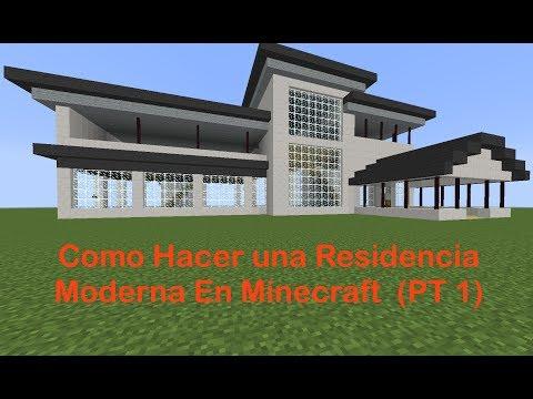 Como hacer una mansion moderna en minecraft parte 1 for Como hacer una casa clasica de ladrillo en minecraft