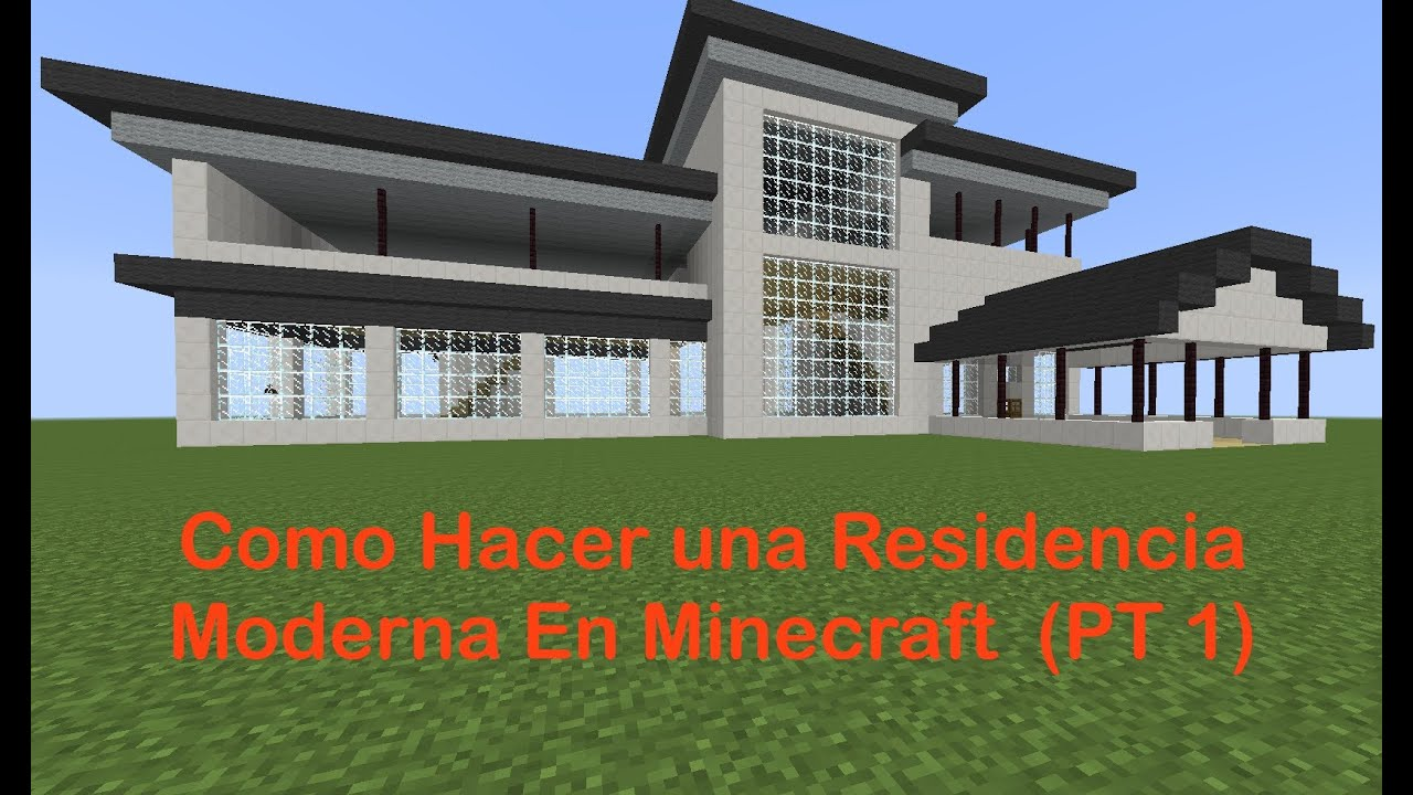 como hacer una residencia moderna en minecraft pt 1 youtube. Black Bedroom Furniture Sets. Home Design Ideas