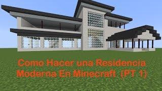 vuclip Como Hacer una Residencia Moderna En Minecraft (PT 1)