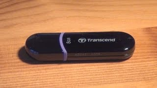 Transcend 8GB USB Stick | Unboxing and Review | HD