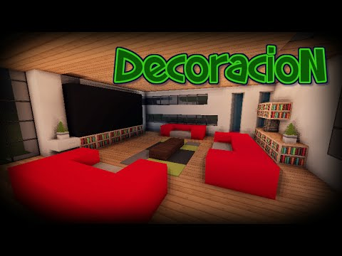Como decorar una casa moderna en minecraft tutoriales for Decoraciones para salas modernas
