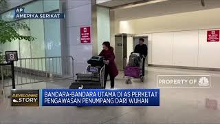 Bandara-bandara utama di amerika serikat mengawasi dengan ketat kedatangan penumpang pesawat yang datang dari provinsi wuhan, china, tempat dimulainya penyeb...