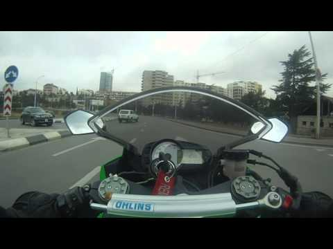 Kawasaki ZX-6R. City Riding. Tbilisi