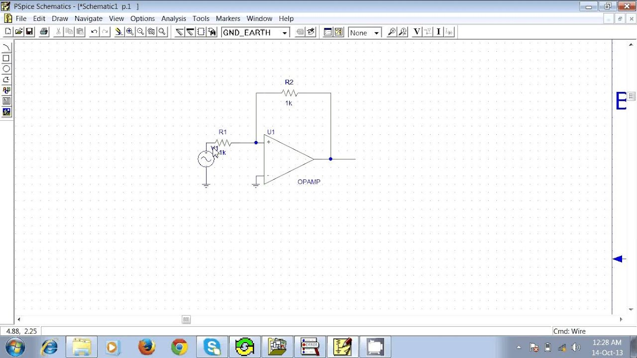 How To Make An Inverting Amplifier In Pspice Schematics Youtube Asymmetrical Schmitt Trigger Electronics Tutorial