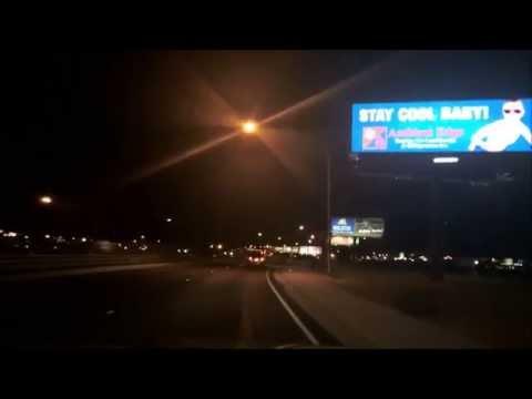 Driving Through Las Vegas From MaCarran Rent-A-Car Center to California Hotel