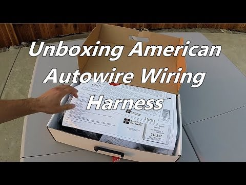 Unboxing American Autowire Wiring Harness Youtube