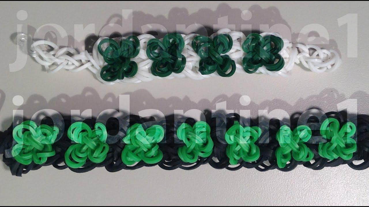 New Four Leaf Clover Bracelet St Patrick S Day Shamrock Rainbow Loom Crazy You