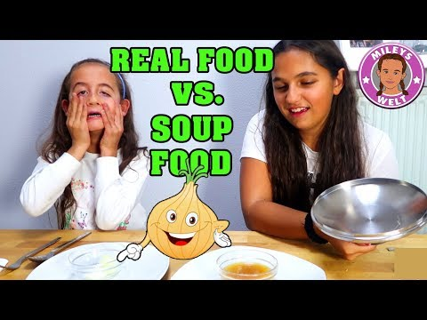 REAL FOOD vs. SUPPEN FOOD CHALLENGE | Girls Edition | Mileys Welt