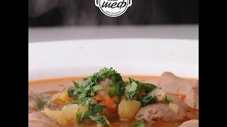 Меню на 29 - 03 Октября | Суп с колбасками с чечевицей