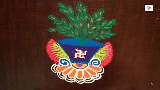 Rangoli for tulsi vivah    maitrin 2018