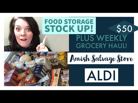 $50 Weekly Grocery Haul With LOTS Of Preps || Amish Salvage Store Haul || Aldi Grocery Haul