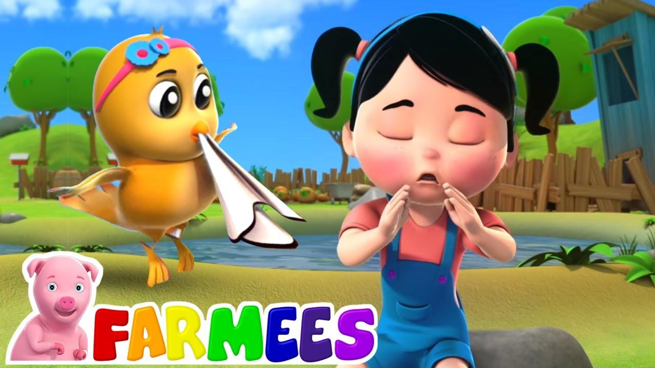 Canção espirro | Musica para bebes | Educação | Farmees Português | Desenhos animado