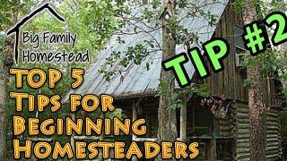 TOP 5 Tips for Beginner Homesteaders #2