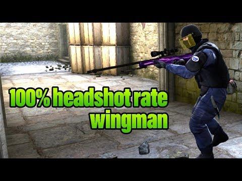100% HS RATE IN WINGMAN? LETS TRY IT