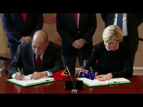Signing Ceremony for the Maritime Boundary Treaty between Au