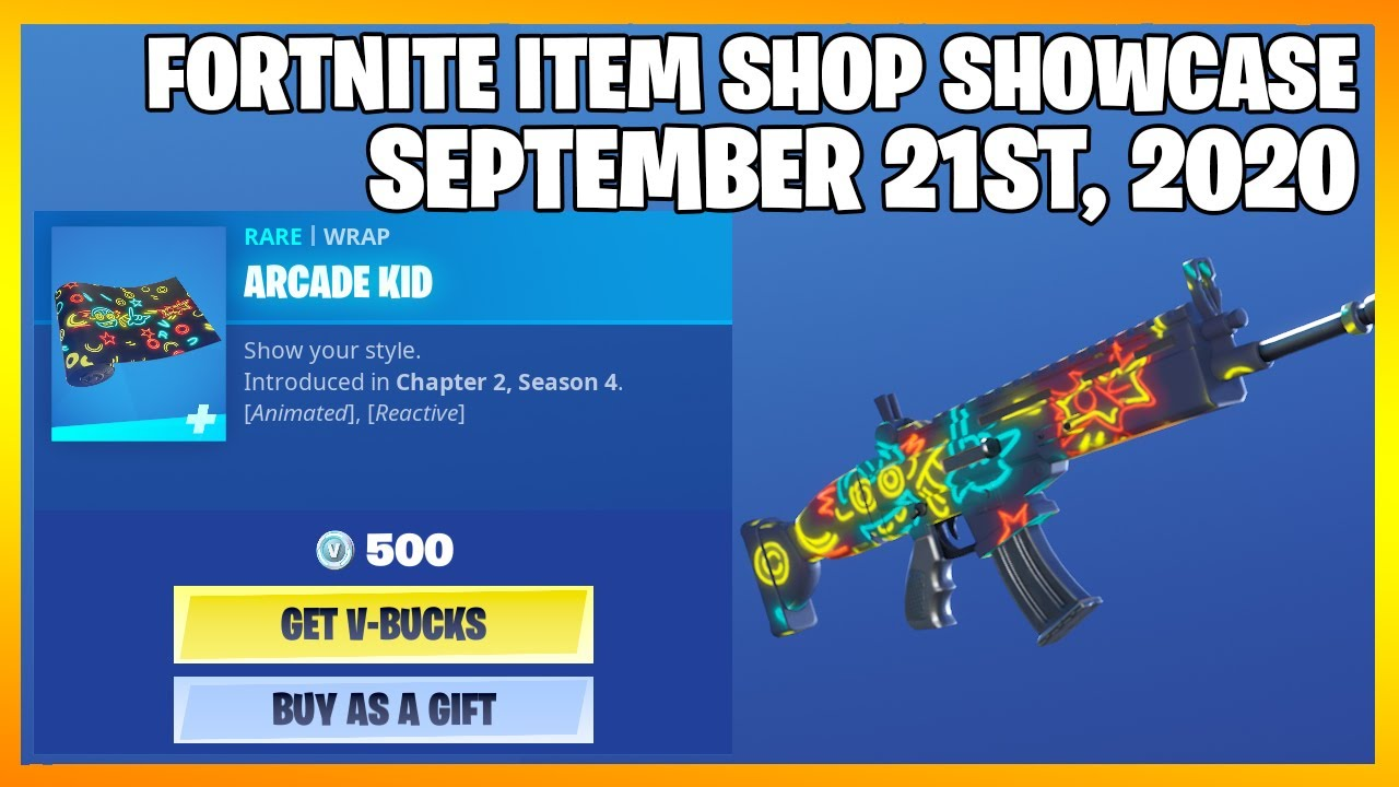 Fortnite Item Shop *NEW* ARCADE KID WRAP! [September 21st, 2020] (Fortnite Battle Royale)