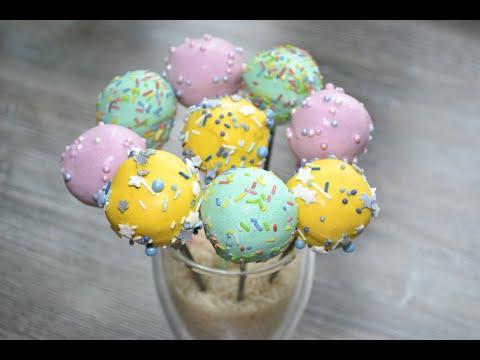 Вопрос: Как приготовить мини тортики на палочке (кейк попсы)?