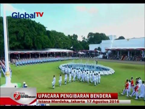 Pengibaran Bendera Merah Putih di Istana Merdeka - Euforia Kemerdekaan